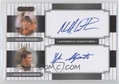 2008 Razor Signature Series [???] #DS-2 - Matt Wieters, Kyle Skipworth /99