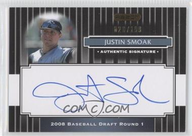 2008 Razor Signature Series Black #111 - Justin Smoak /199