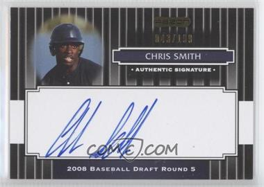 2008 Razor Signature Series Black #150 - Chris Smith /199
