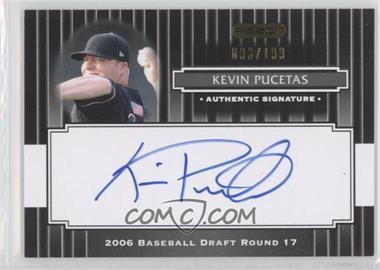 2008 Razor Signature Series Black #189 - Kevin Pucetas /199