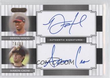2008 Razor Signature Series Dual Signatures #DS-10 - Destin Hood, Aaron Crow /99
