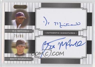 2008 Razor Signature Series Dual Signatures #DS-13 - D.J. Mitchell, Brett Marshall /99