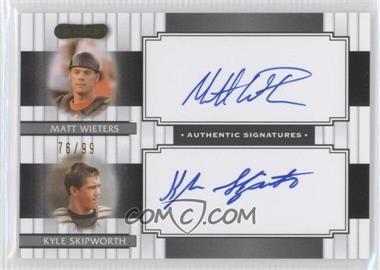 2008 Razor Signature Series Dual Signatures #DS-2 - Matt Wieters, Kyle Skipworth /99