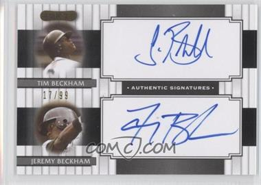 2008 Razor Signature Series Dual Signatures #DS-6 - Tim Beckham, Jeremy Beckham /99