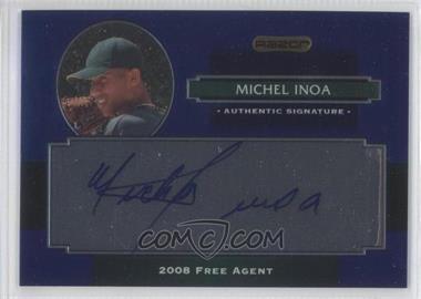 2008 Razor Signature Series Metal - Autographs - Blue #AU-MI - Michael Inoa