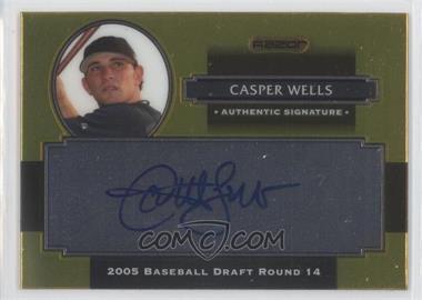 2008 Razor Signature Series Metal - Autographs - Gold #AU-CW - Casper Wells