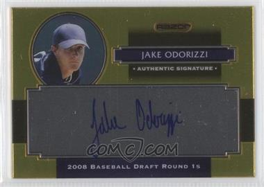 2008 Razor Signature Series Metal - Autographs - Gold #AU-JO - Jake Odorizzi