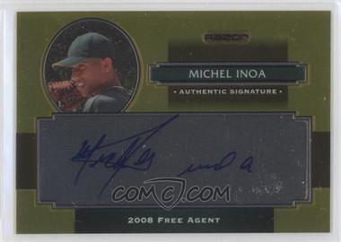 2008 Razor Signature Series Metal - Autographs - Gold #AU-MI - Michael Inoa