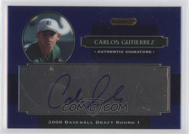 2008 Razor Signature Series Metal Autographs Blue #AU-CG - Carlos Gutierrez