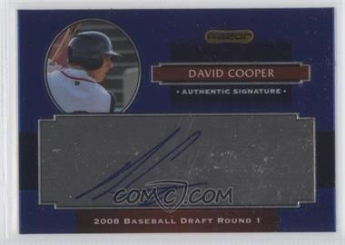 2008 Razor Signature Series Metal Autographs Blue #AU-DVC - David Cooper
