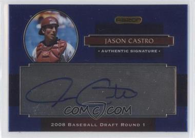 2008 Razor Signature Series Metal Autographs Blue #AU-JC - Jason Castro