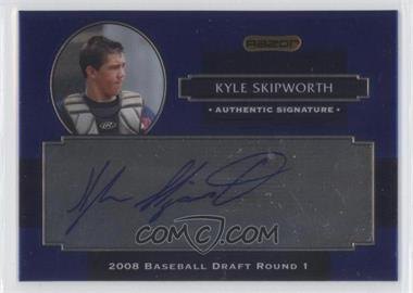 2008 Razor Signature Series Metal Autographs Blue #AU-KS - Kyle Skipworth