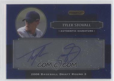 2008 Razor Signature Series Metal Autographs Blue #AU-TYS - Tyler Stovall