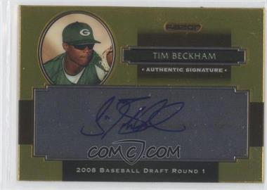 2008 Razor Signature Series Metal Autographs Gold #AU-TB - Tim Beckham