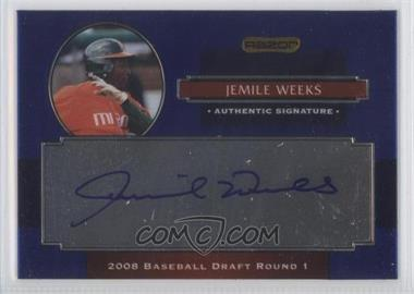 2008 Razor Signature Series Metal Autographs #AU-JW - Jemile Weeks