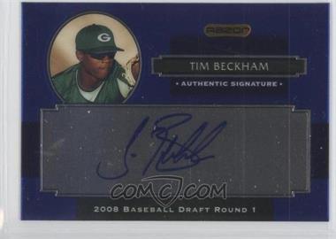 2008 Razor Signature Series Metal Autographs #AU-TB - Tim Beckham