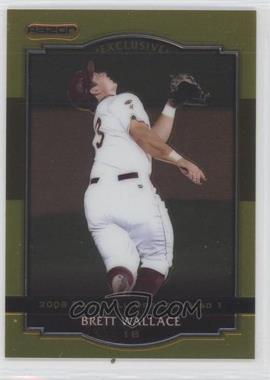 2008 Razor Signature Series Metal Gold #BA-BW - Brett Wallace