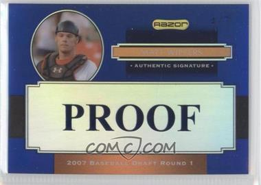 2008 Razor Signature Series Metal Proofs #AU-MW - Matt Wieters /7