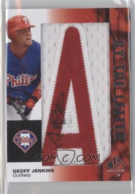 2008 SP Authentic By the Letter Autographs #BL-GJ - Geoff Jenkins /25
