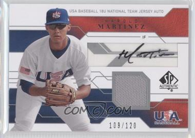 2008 SP Authentic USA Baseball 18U National Team Jersey Autograph #JTA-HM - Harold Martinez /120