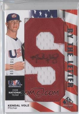 2008 SP Authentic USA Baseball National Team By the Letter Autographs #NTA-KV - Kendal Volz /105
