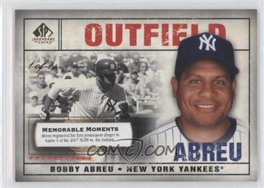 2008 SP Legendary Cuts - [Base] - Memorable Moments #49 - Bobby Abreu /1
