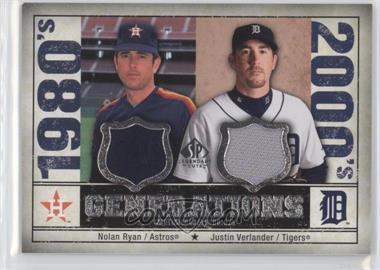2008 SP Legendary Cuts Generations Dual Memorabilia #GEN-RV - Nolan Ryan, Justin Verlander
