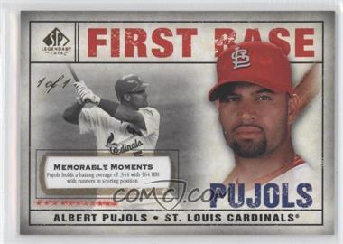 2008 SP Legendary Cuts Memorable Moments #3 - Albert Pujols /1