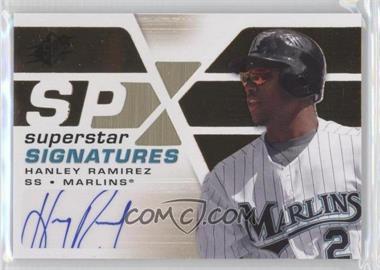 2008 SPx - Superstar Signatures - Gold #SSS-HR - Hanley Ramirez