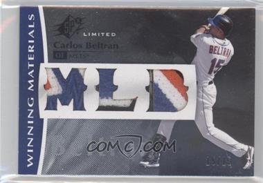 2008 SPx - Winning Materials - MLB Triple Patch #WM-CB - Carlos Beltran /15