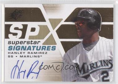 2008 SPx Superstar Signatures Gold #SSS-HR - Hanley Ramirez