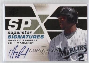 2008 SPx Superstar Signatures Gold #SSS-HR - Hanley Ramirez