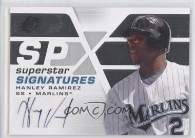 2008 SPx Superstar Signatures #SSS-HR - Hanley Ramirez