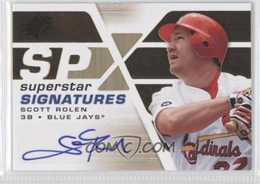 2008 SPx Superstar Signatures #SSS-SR - Scott Rolen