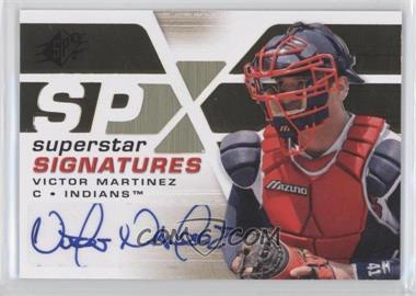 2008 SPx Superstar Signatures #SSS-VM - Victor Martinez