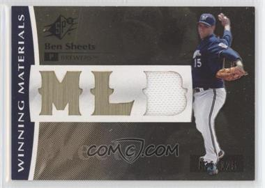2008 SPx Winning Materials MLB Logo #WM-BS - Ben Sheets /125