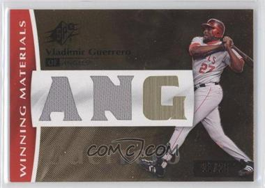 2008 SPx Winning Materials Team Dual Swatch #WM-VG - Vladimir Guerrero /25