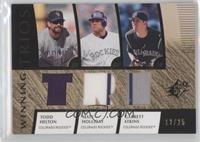 Todd Helton, Matt Holliday, Garrett Atkins /25