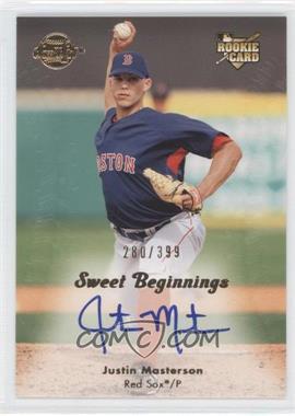 2008 Sweet Spot - [Base] #135 - Justin Masterson /399