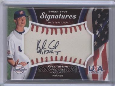 2008 Sweet Spot - USA Signatures - Ball Red Stitching Black Ink #USA-KG - Kyle Gibson /198