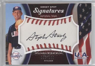 2008 Sweet Spot USA Signatures Ball Red Stitching Black Ink #USA-SS - Stephen Strasburg /260