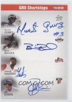 GR8 Shortstops (Hector Gomez, Brian Bocock, Yamaico Navarro, Jed Lowrie) /25