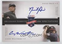 David Price, Casper Wells, Dan Prior, Casey Weathers /25