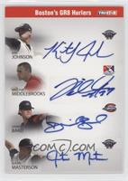 Justin Masterson, Kris Johnson, Will Middlebrooks /5