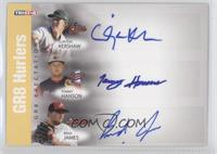 Clayton Kershaw, Tommy Hanson, Brad James /25