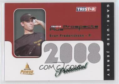 2008 TRISTAR Prospects Plus PROtential Game Used Green #EF - Evan Frederickson /50