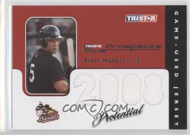 2008 TRISTAR Prospects Plus PROtential Game Used #BW - Brian Wallace /199