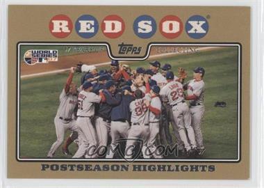 2008 Topps - [Base] - Gold Border #234 - Boston Red Sox Team /2008