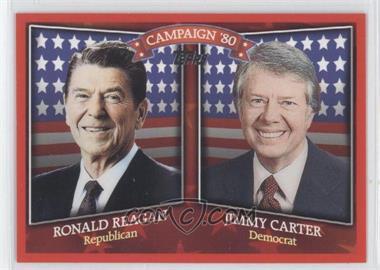 2008 Topps - Historical Campaign Match-Ups #HCM-1980 - Ronald Reagan, Jimmy Carter