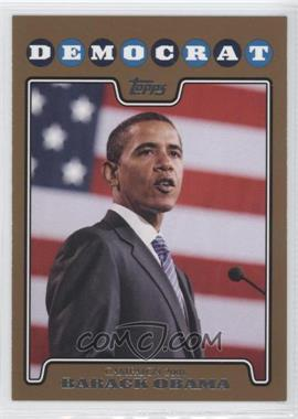 2008 Topps Campaign 2008 Gold #C08-BO - barrack obama